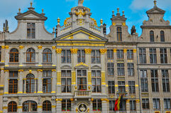 België, schilderachtig Grand Place van Brussel Stock Fotografie