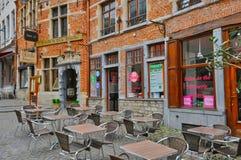 België, schilderachtig Sablon-district van Brussel Royalty-vrije Stock Afbeeldingen