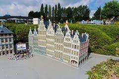 Belgia Brussel 27 2014 Wrzesień Mini Europa na 27 Wrześniu, Fotografia Stock