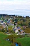 Belgia, panoramiczny widok wioska. Zdjęcia Royalty Free