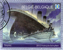 BELGIA - 2012: przedstawienia Tytaniczni, Tytaniczny stulecie 1912-2012 Zdjęcia Royalty Free