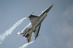 Belgian Air Force display F16 fighter jet Royalty Free Stock Photo