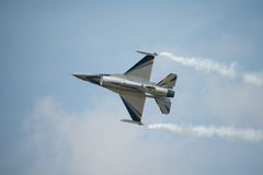 Belgian Air Force display F16 fighter jet Stock Image