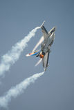 Belgian Air Force display F16 fighter jet Royalty Free Stock Photography