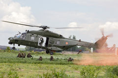 Belgian army helicopter Stock Image