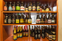 Belgian beer in a shop Royalty Free Stock Photography