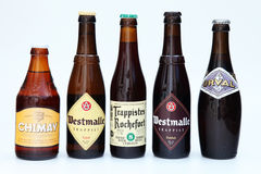 Belgian beers Royalty Free Stock Photos