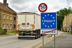 Belgian border Royalty Free Stock Images
