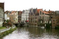 Belgian canal Royalty Free Stock Image
