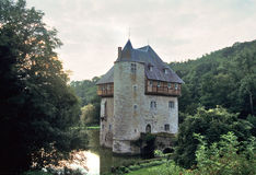 Belgian Castle Sunset Royalty Free Stock Photo
