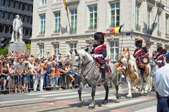 Belgian Cavalry Stock Photo