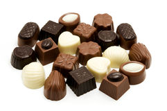 Belgian Chocolate. Close up shot of some assorted belgian chocolate Stock Photos