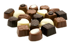 Belgian Chocolate. Close up shot of some assorted belgian chocolate Stock Photography