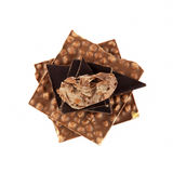 Belgian chocolate. Different kinds of Belgian chocolate (white background Royalty Free Stock Photos