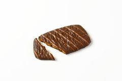 Belgian chocolate butter biscuit Stock Images