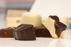 Belgian chocolate mix Stock Photos