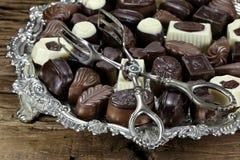 Belgian chocolate pralines Royalty Free Stock Images