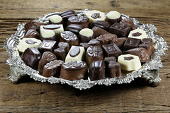 Belgian chocolate pralines Stock Photography