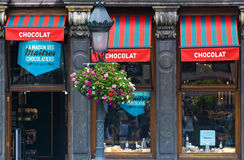 Belgian chocolate store Stock Photography
