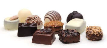 Belgian chocolates Stock Images