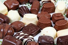 Belgian chocolates. Royalty Free Stock Image