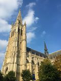 Belgian city of Ypres - St Martin`s Cathedral royalty free stock photography
