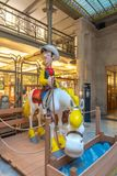 Belgian Comic Strip Center in Brussels. Brussels, Belgium - September 30,2018 : This beautiful museum is located in an Art Nouveau style building designed by royalty free stock image