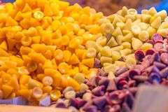 Belgian cuberdons stock images
