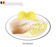 Sole Meuniere, A Popular Dish in Belgium Stock Photos