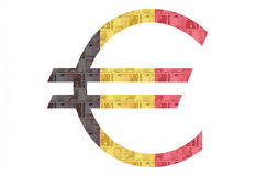 Belgian Euro sign Royalty Free Stock Photography