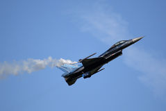 Belgian F-16 Solo Display team Stock Photo