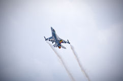 Belgian F-16 figter on Radom Airshow, Poland Royalty Free Stock Photo
