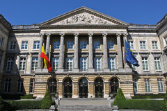 Belgian Federal Parliament. The Palace of the Nation in Brussels of the Belgian Federal Parliament Stock Photography