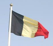 Belgian flag. Belgium's national flag Royalty Free Stock Photography