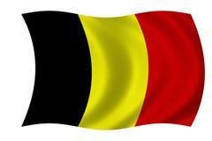 Belgian flag. Waving flag of Belgium - belgian flag Vector Illustration