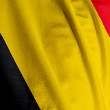 Belgian Flag Closeup Royalty Free Stock Photos