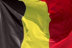 Belgian flag floating in the wind. Full framed belgian flag floating in the wind exact colors stock photos