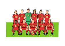 Belgian football team 2018. Qualified for the 2018 world cup in Russia Royalty Free Stock Photography