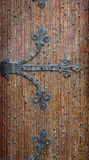 Belgian forged decorative door brown Royalty Free Stock Photography