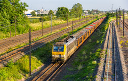 Belgian freight train in Strasbourg Stock Photography