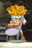 Belgian fries mascot in Bruges Royalty Free Stock Image