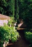 Belgian Garden. English style garden in Belgium stock images