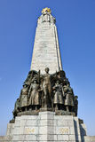 Belgian infantry memorial at Place Poelaert Stock Images