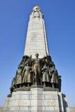 Belgian infantry memorial at Place Poelaert stock images