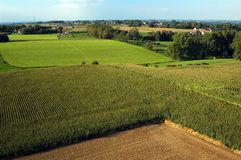 Belgian Landscape. Belgian agriculture landscape seen from above Stock Photos