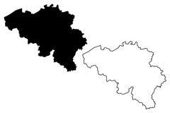 Belgian map vector Stock Image