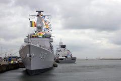 Belgian Navy Frigate Royalty Free Stock Photos