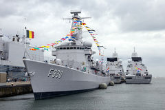 Belgian Navy Frigate Royalty Free Stock Images