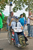 Belgian Police demonstrates against changes in pension regulations Royalty Free Stock Images
