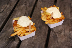Belgian pommes frites Stock Photography